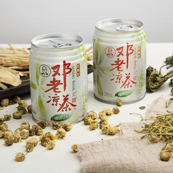 邓老凉茶245低糖罐装植物饮料
